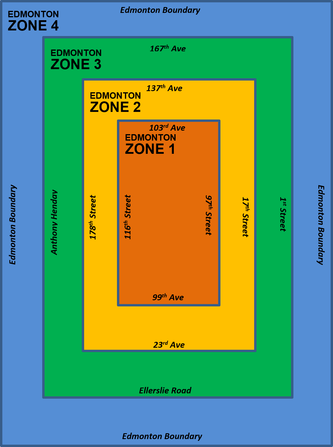 Edmonton Service Zone Map